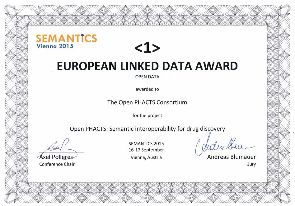 Linked Data Award Certificate